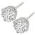 Estate 2.06ct Round Cut Diamond 14k White Gold Stud Earrings