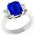 3.28ct Ceylon Sapphire 0.50ct Diamond Platinum Ring