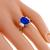 3.28ct Ceylon Sapphire 0.50ct Diamond Platinum Ring | Israel Rose