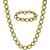 1960s Gold Chain Necklace & Bracelet Set