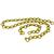 18k Yellow Gold Chain Necklace & Bracelet Set