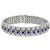 5.20ct Sapphire 6.00ct Diamond Gold Bracelet | Israel Rose
