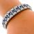 Estate 5.20ct Square Cut Sapphire 6.00ct Round Cut Diamond 18k White Gold Bracelet