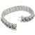 5.20ct Sapphire 6.00ct Diamond 18k White Gold Bracelet