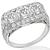 Art Deco GIA 0.66ct, 0.80ct, 0.65ct Diamond Ring