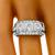 Art Deco GIA 0.66ct, 0.80ct, 0.65ct Diamond Ring  | Israel Rose