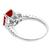 Ruby Diamond 18k White Gold  Engagement Ring