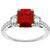 2.04ct Burmese Ruby 0.75ct Diamond Gold Ring | Israel Rose