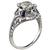 1.03ct Diamond Art Deco Engagement Ring