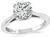 Estate GIA Certified 1.00ct Diamond Solitaire Engagement Ring