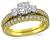 Estate Scott Kay 0.50ct Diamond Engagement Ring and Wedding Band Set