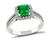 Estate 0.69ct Colombian Emerald 0.70ct Diamond Engagement Ring