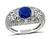 Estate 1.45ct Ceylon Sapphire GIA and EGL Certified 1.58ct Diamond Anniversary Ring