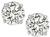 Round Cut Diamond 18k White Gold Studs Earrings