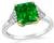 1.79ct Colombian Emerald 0.50ct Diamond Engagement Ring