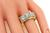 Old Mine Cut Diamond 14k Yellow Gold Men's Ring