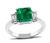 1.91ct Colombian Emerald 0.48ct Diamond Engagement Ring