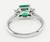 Platinum Emerald Diamond Ring