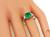 Emerald Cut Emerald Baguette Cut Diamond Platinum Engagement Ring