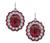 Estate 10.47ct Rubellite 1.93ct Diamond Earrings