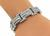 Round and Baguette Cut Diamond 18k White Gold Bracelet