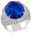 sapphire diamond 14k white gold ring cocktail  1