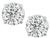 Estate GIA Certified 1.03ct and 1.01ct Diamond Stud Earrings