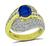Estate 2.50ct Ceylon Sapphire 1.25ct Diamond Gold Ring