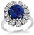 Estate 2.98ct Sapphire 1.00ct Diamond Engagement Ring