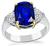 Estate 3.18ct Ceylon Sapphire 0.60ct Diamond Engagement Ring
