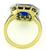 18k Gold Diamond Sapphire Art Deco Engagement Ring