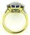 18k Yellow and White Gold Sapphire Diamond Engagement Ring