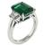 Diamond Emerald Engagement Ring