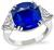 Estate 5.15ct Sapphire Diamond Engagement Ring