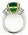 Emerald Diamond Anniversary Ring