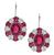 Estate 8.23ct Center Rubellite 2.40ct Diamond Earrings
