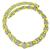 Round Cut Diamond Two Tone 18k Yellow and White Gold Necklace