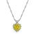 Estate 2.38ct Yellow Diamond 0.40ct Diamond Heart Pendant Necklace