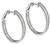 Baguette and Round Cut Diamond 18k White Gold Inside Out Hoops Earrings