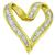 Estate 2.00ct Diamond Gold Heart Pendant