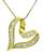 Baguette Cut Diamond 14k Yellow Gold Heart Pendant