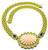 Fope Carved Coral 2.00ct Diamond 7.50ct Sapphire Gold Necklace