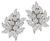 Round Pear and Marquise Cut Diamond Platinum Day and Night Earrings