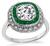 Estate 1.40ct Diamond Emerald Engagement Ring