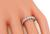 Round Cut Diamond 14k White Gold Eternity Wedding Band