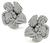 Round Cut Diamond 18k White Gold Flower Earrings