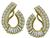 Estate 3.00ct Diamond Gold Earrings