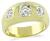 Vintage 1.22ct Light Fancy Yellow Diamond 0.80ct Diamond Gypsy Ring