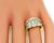 Marquise and Baguette Cut Diamond 18k Yellow Gold Ring