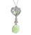 Cabochon Opal Round Cut Diamond 18k White Gold Pendant Necklace